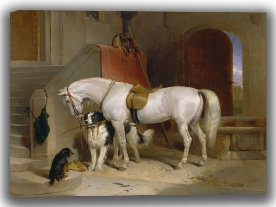 Landseer, Sir Edwin: Favourites, the Property of H.R.H. Prince George of Cambridge. Fine Art Canvas. Sizes: A4/A3/A2/A1 (003937)